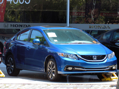 Blue Honda Civic - the average car payment for a Honda Civic would be lower than the Audi A3. How much car can you afford?